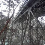 Underneath the first span of the Deception Pass Bridge