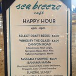 Happy Hour drink selections from 4-6pm