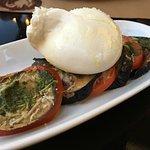 Grilled eggplant with burrata - yum!
