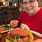 Enjoying Dungeness Crab