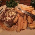The blue cheese kinda saved the steak