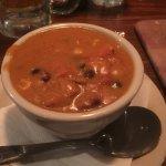 Chicken enchilada soup, it was OK, side dish