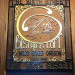 Sign in the restauran
