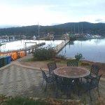 The Marina on Sooke Harbor below the Condos.