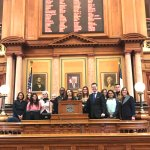 With Representative Zach Nunn on the House Floor. Bipartisan civics exchange.