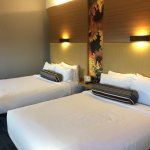 The two queen room. Beds are firm yet comfortable.