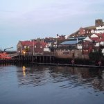 The Lifeboat Station at dusk - complete with Christmas Tree!