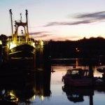 Parkol Marine boatyard in the evening light