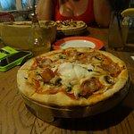 Bacon, Egg, Mushroom and Cheese Pizza