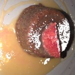 Warm sticky toffee pudding