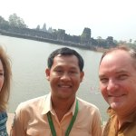 At Angkor Wat with Vithyea our private tour guide - the best!