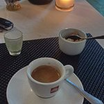 A liqueur and an espresso after a great meal.