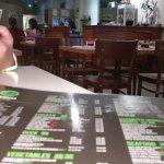 Restaurant Menu and interior.