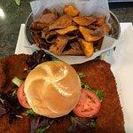 Tenderloin and sweet potato chips