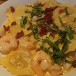 Lobster and shrimp ravioli