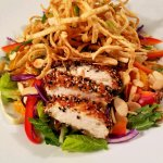 Asian Chicken Salad with sesame vinaigrette