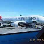 Beautiful Emirates A380 to Auckland!