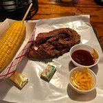 This is the brisket, along with the corn on the cob.