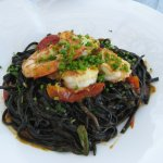 This squid ink pasta was INCREDIBLE