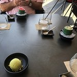Green tee ice cream and sorbets