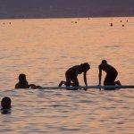 Chapuzón con el mar en calam