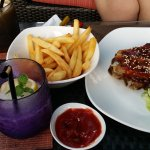 The food we ate at Sunset Pool Bar