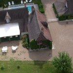 Vue aérienne de l'Auberge Marcheroux