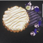 Lemon Tart with Violet Meringue