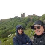 Scarborough Castle in the back Ground.