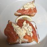 Smoked salmon and egg tartine