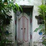 Villa garden entrance.
