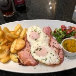 Ham, egg & chips, served with homemade picalili