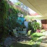 Garden/breakfast area at rear of property