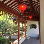 Chinese lanterns under the roof