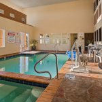 Enjoy our heated indoor pool & hot tub all year!