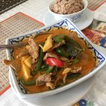Red curry with rice