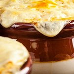Our take on a traditional French Onion Soup. We use our 1790 Taproom Ale & Cheddar Cheese.