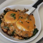 Potato Pancake Benedict with Chipotle Hollandaise