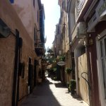 The alley where this sweet patisserie is located within the old city of Chania.