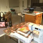 I set up a little Sewing Studio for the weekend. It was awesome!