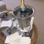 Complimentary Anniversary Champagne