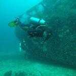 Diving shipwreck