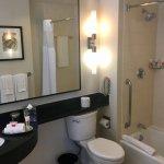 Great sized bathroom.
