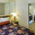 2 bedroom suite bedrooms with Jack and Jill bathroom between.