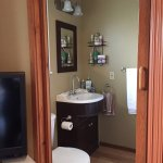 Full bathroom in Western Room with  tub.