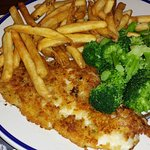 Flounder with Fries and Broccoli