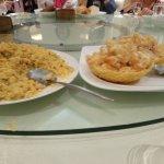Fried Rice and Hot Prawn Salad