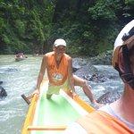 The boatmen work hard to take you upstream through 14 rapids