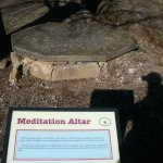 """A photo of the """"Meditation Rock""""."""