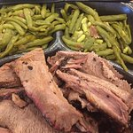 Brisket with double order of green beans delicious.